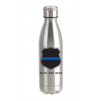 Back The Blue Stainless Steel Bottle Police