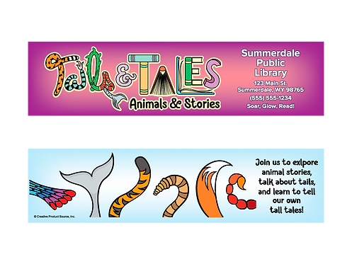 Tails & Tales Bookmark For Summer Reading