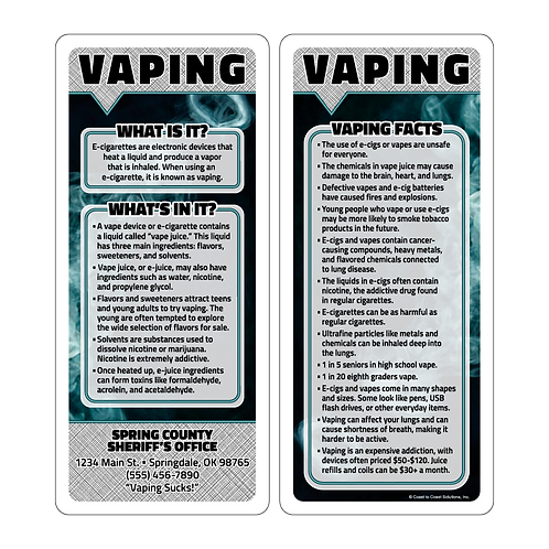 Vaping Q & A Cards