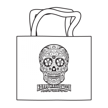 Halloween Sugar Skull Coloring Tote