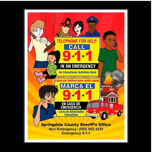 Bilingual 911 Coloring Book