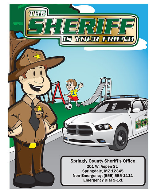 Sheriff Is Your Friend Coloring Book