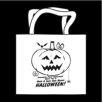 Halloween Jack-O-Lantern Coloring Tote
