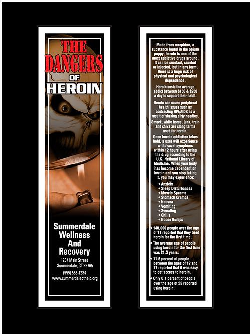 Dangers Of Heroin Bookmarks