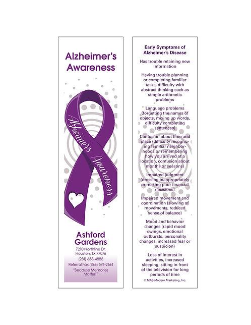 Alzheimer's Awareness Bookmarks