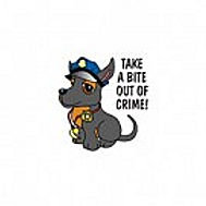 Take A Bite Out Of Crime Temporary Tattoo