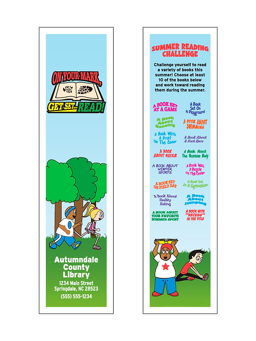 On Your Mark, Get Set... READ! Bookmarks
