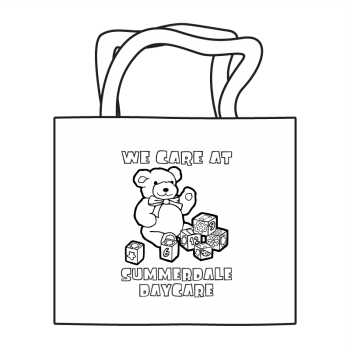 Daycare Coloring Tote