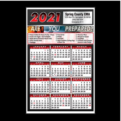 Natural Disaster Checklist Wall Calendar