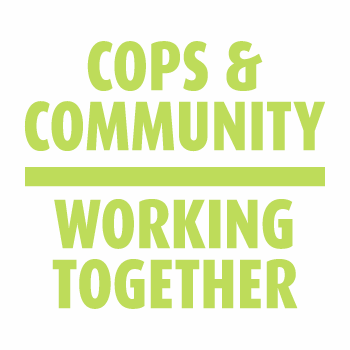 Cops & Community Working Together Temporary Tattoo