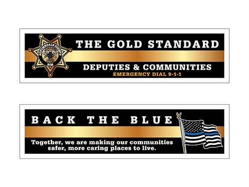 7pt. Star Deputies & Communities (Gold Standard/Back The Blue) Bookmarks