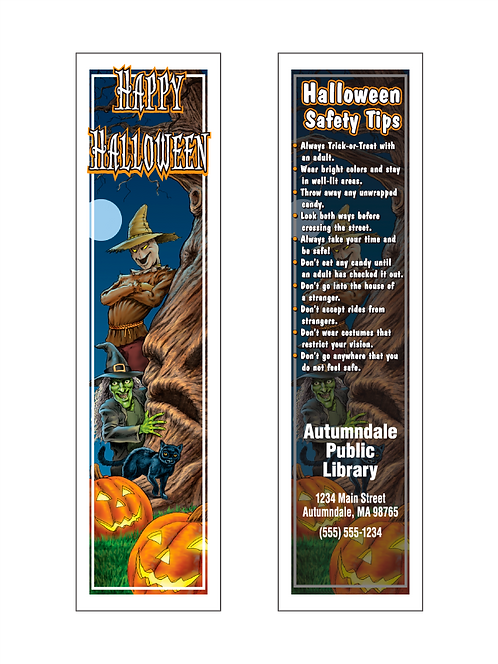 Halloween Safety Tips Bookmarks