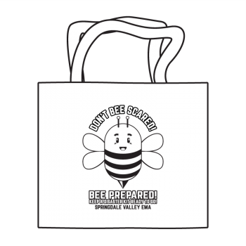 Bee Prepared Coloring Tote