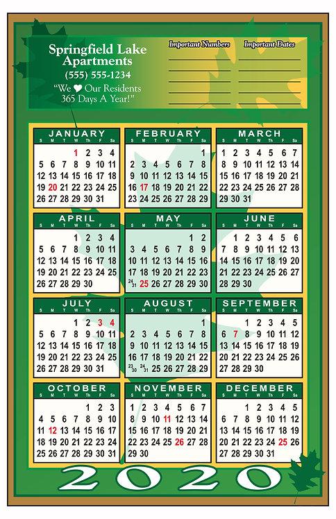 Leaf Wall Calendar