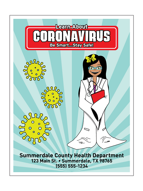 Learn About Coronavirus (COVID-19) Coloring Book