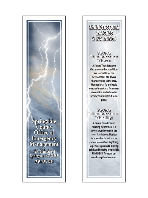 Thunderstorm/Sever Weather Bookmarks