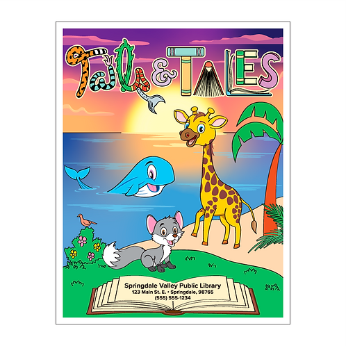 Tails & Tales Summer Reading Coloring Book