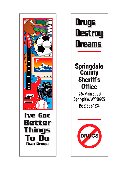 Drugs Destroy Dreams Bookmarks