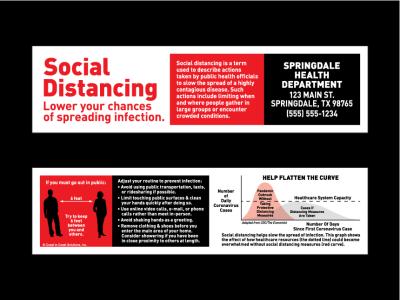 Social Distancing Bookmark