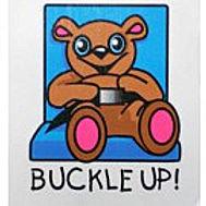 Buckle Up Bear Temporary Tattoo