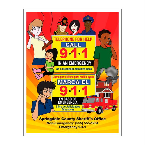 Bilingual 911 Coloring Book