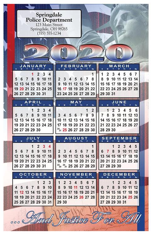 Liberty Patriotic Wall Calendar