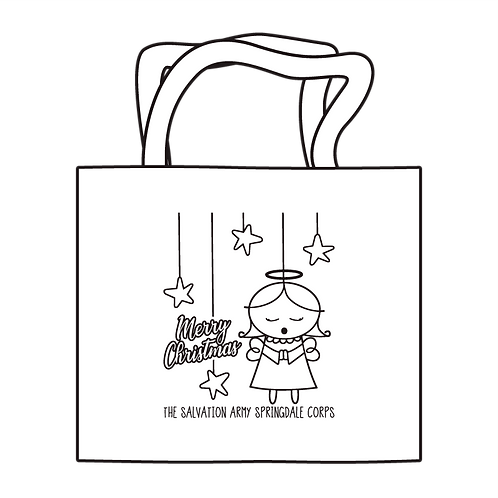 Merry Christmas Angel Coloring Tote
