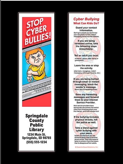 Stop Cyber Bullies! Bookmark