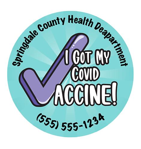 I Got My Covid Vaccine Stickers
