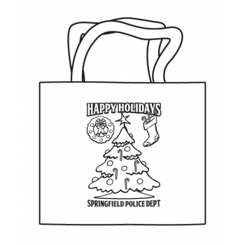 Happy Holidays Coloring Tote