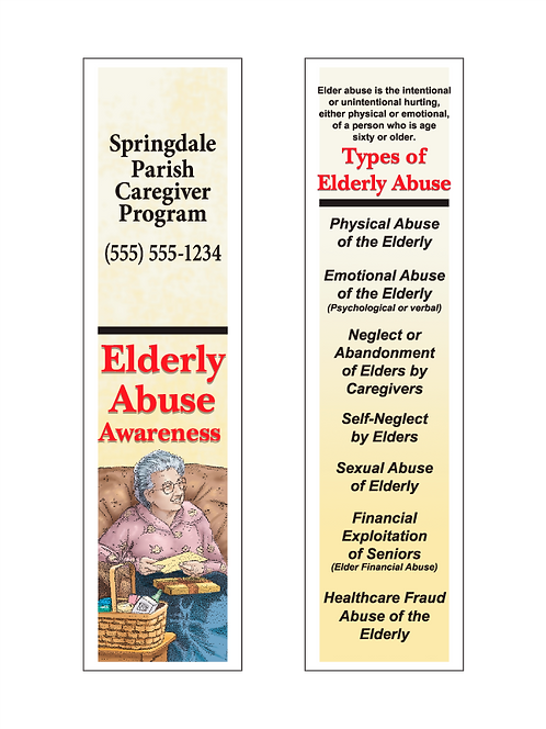 Elderly Abuse Awareness Bookmarks