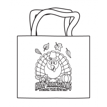 Thanksgiving Coloring Tote