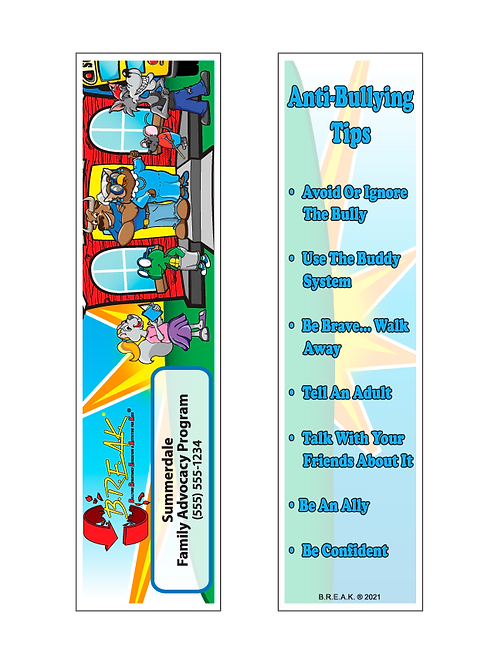 B.R.E.A.K. - Bullying Awareness Bookmarks