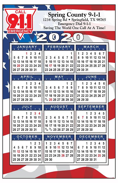 Flag Wall Calendar