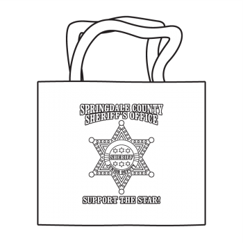 Sheriff 6pt Badge Coloring Tote