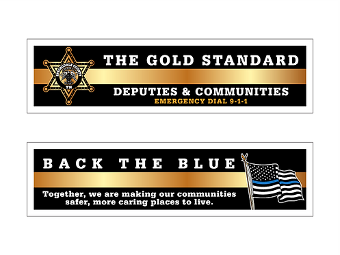 6pt. Star Deputies & Communities (Gold Standard/Back The Blue) Bookmarks