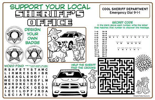 Sheriff Activity Sheet