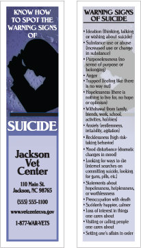 Suicide Prevention (Bookmarks)
