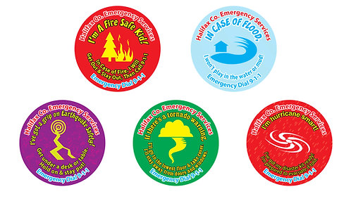 Kid's Disaster Safety Stickers