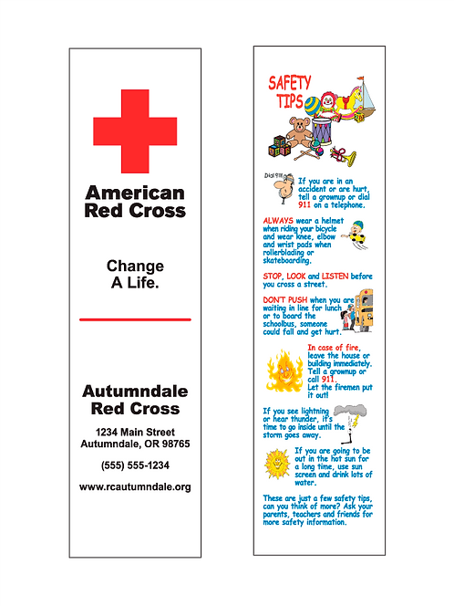 American Red Cross Bookmarks