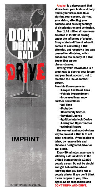 Don't Drink & Drive (Bookmarks)