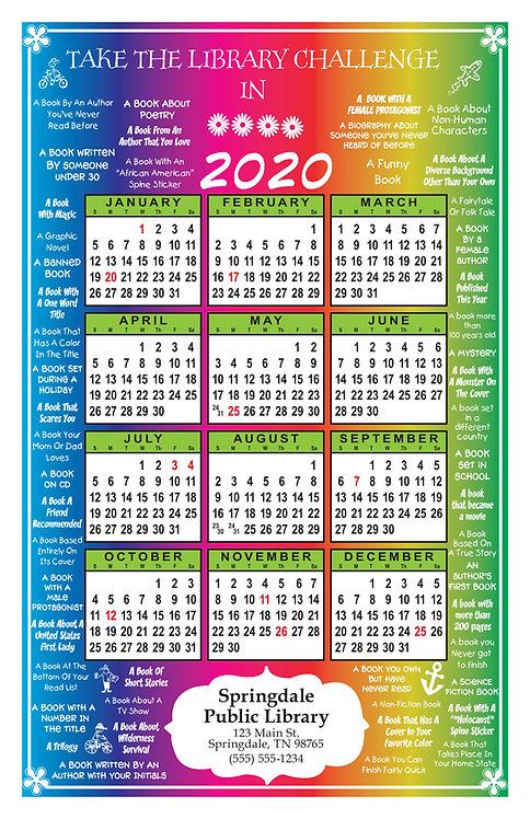 Kids Library Challenge Wall Calendar