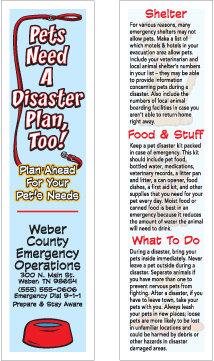 Pet Disaster Plan (Bookmarks)