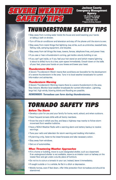 Severe Weather Safety Poster