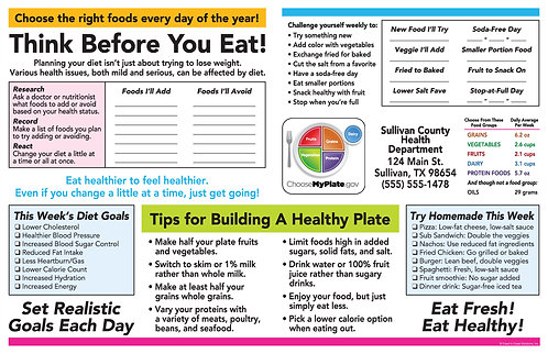 My Plate Planner Activity Sheet