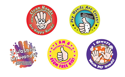 Clean Hands Stickers