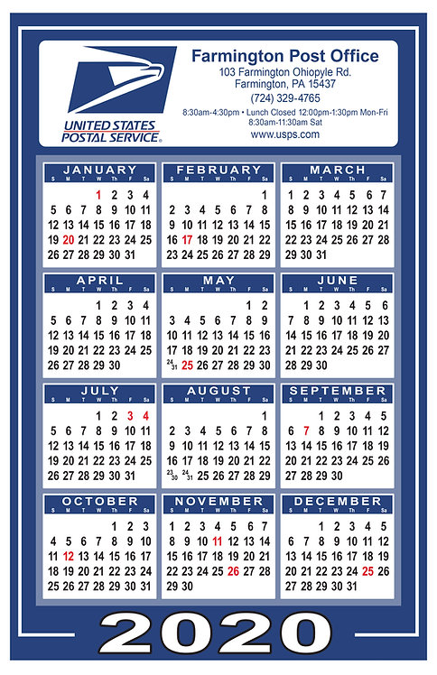 Postal Service Wall Calendar