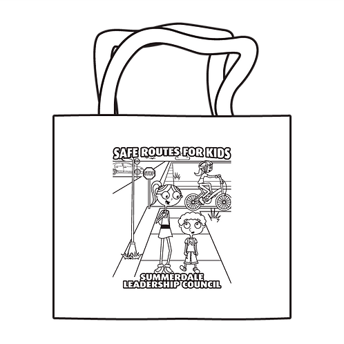 Safe Routes For Kids Coloring Tote