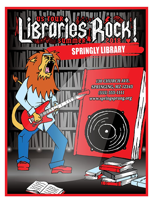 Libraries Rock Coloring Book