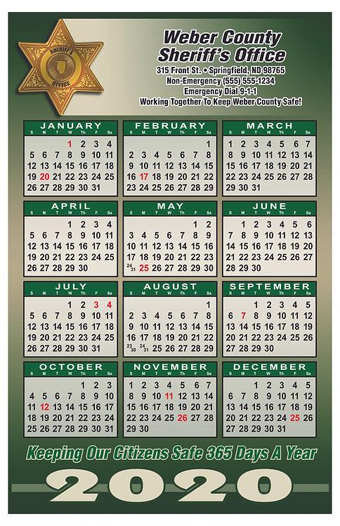 6pt Sheriff Wall Calendar